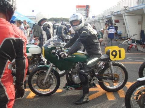 9月30日筑波LOCレース参加CB500優勝