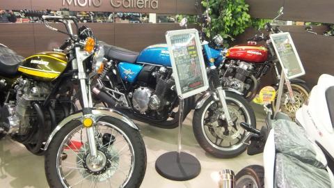 ライコランド東雲店にCB750K1フルカスタム、展示してます